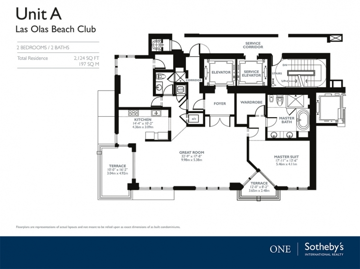 Great Las Olas Beach Club - 101 S Fort Lauderdale Beach Blvd Las Olas Beach Club Floor Plans Picture