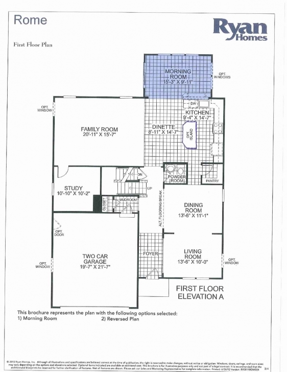 Great Ryan Homes Rome Model Floor Plan Together With Ryan Homes Avalon Rome Ryan Homes Floor Plan Image