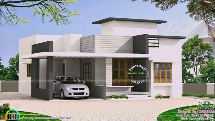 Great Single Floor Contemporary House Plans In Kerala - Youtube Single Floor Kerala House Plans Image
