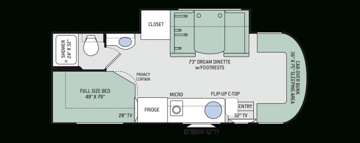Image of Citation Sprinter Class C Motorhomes - Floor Plans | Thor Motor Coach Sprinter Floor Plans Pic