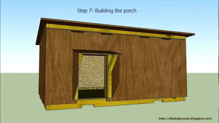 Image of Detailed Instruction - Insulated Dog House 2 - Youtube Insulated Dog House Plans Picture