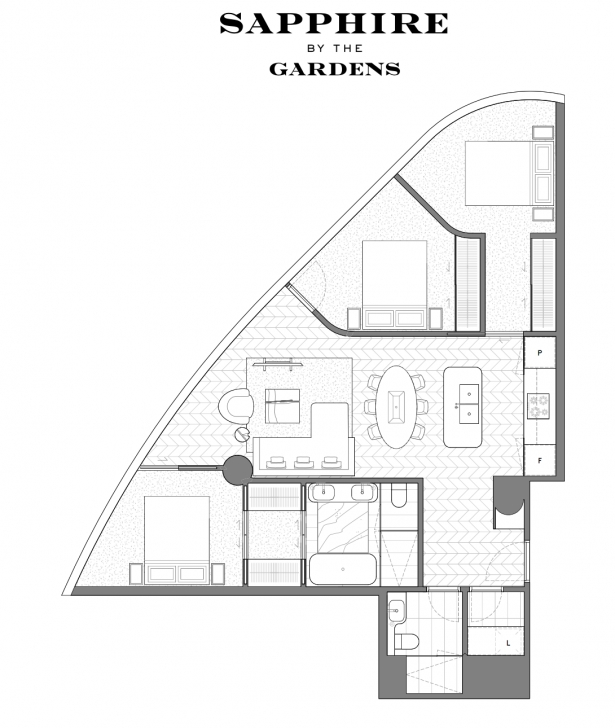 Image of Exhibition Street Apartment – Pr-Igroup The Gardens Floor Plan Photo
