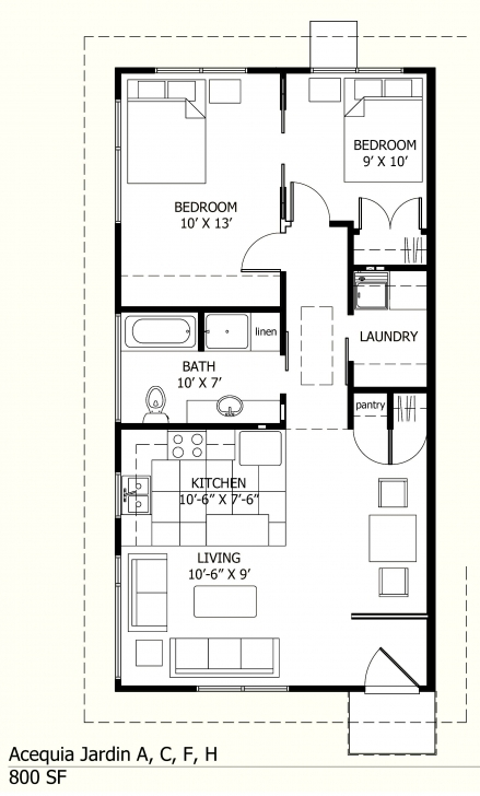 Image of I Like This One Because There Is A Laundry Room! :-) 800 Sq Ft Floor 800 Sq Ft House Plans Image