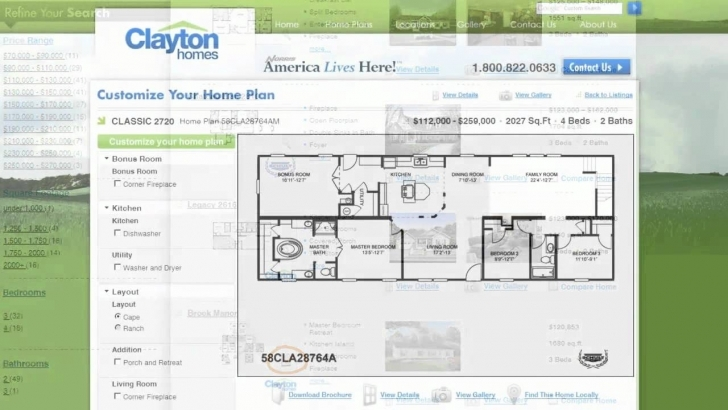 Image of Interactive Floor Plan Manufactured Homes By Clayton, Clayton Clayton Mobile Homes Floor Plans Pic