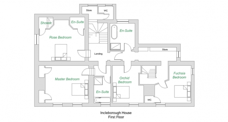 Image of Large Luxury Cottages Norfolk, Incleborough House Floorplan Holiday House Floor Plans Picture