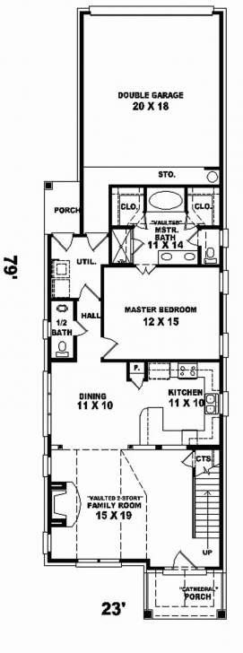 Image of Narrow Lot Floor Plans 2 Story | Craigkeller Narrow Lot House Plans Image