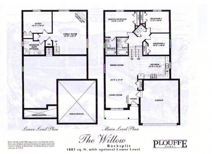 Image of Outstanding Front To Back Split House Plans Gallery Ideas And Backsplit Floor Plans Image