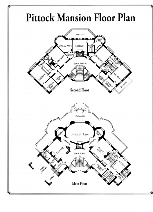 Image of Pittock Mansion Floor Plan 1 | Fixed Points Pittock Mansion Floor Plan Photo