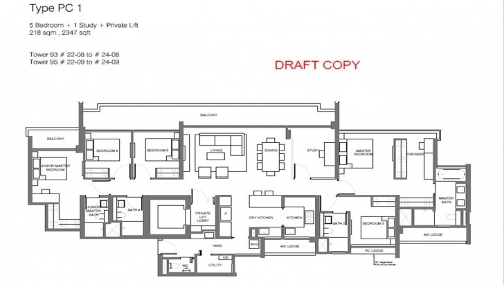 Image of Principal Garden Floor Plan | Showflat Hotline +65 9168 0007 | Uol The Gardens Floor Plan Pic