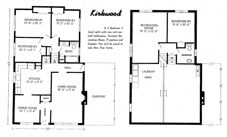 Image of Side To Side Split House Plans Unique Split Foyer House Plans 49 Backsplit Floor Plans Pic