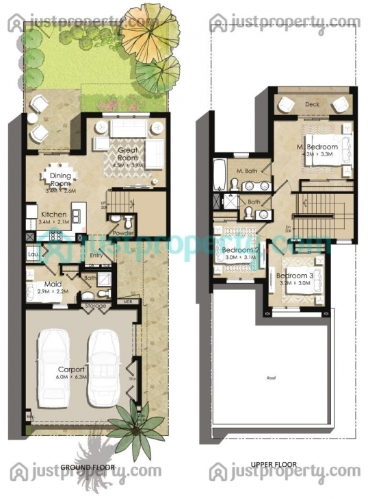 Image of Zahra Townhouses Floor Plans | Justproperty Townhouse Floor Plans Image