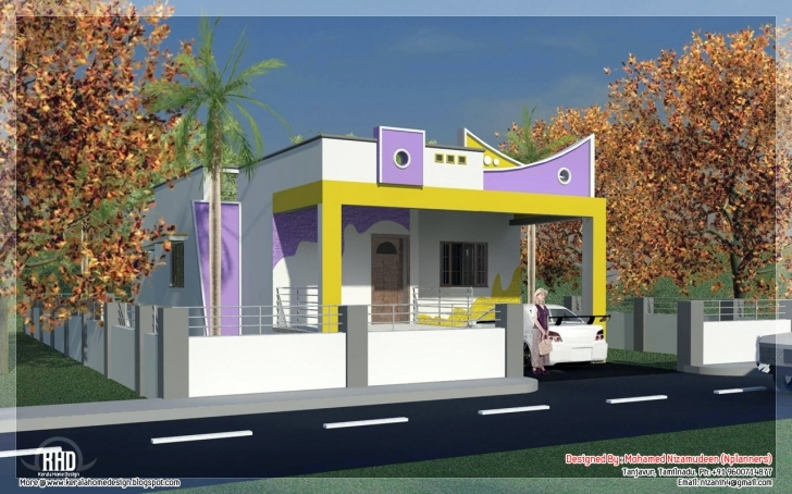 Incredible 3 Bedroom South India Style Minimalist Tamilnadu House Design Single Floor House Plans In Tamilnadu Photo