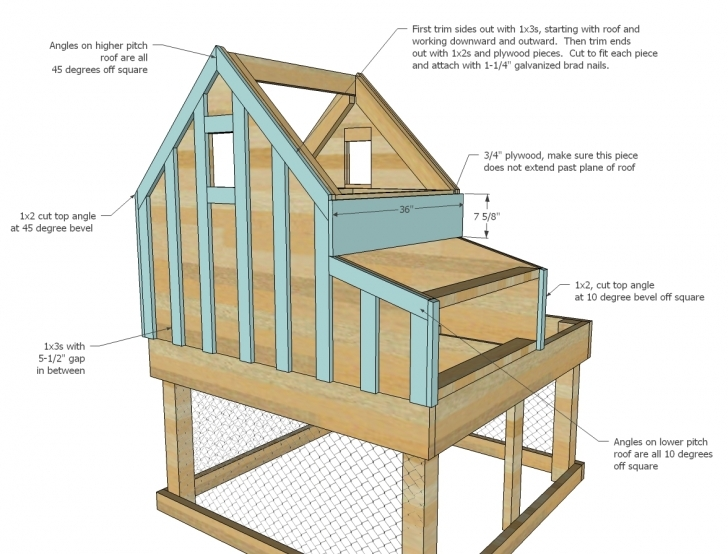 Incredible Build Your Own Chicken Coop Plans 3D Floor Plan Free Chicken House Plans Picture