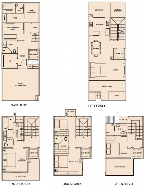 Incredible Este Villa Floor Plans | Este Villa Cluster Houses Cluster House Floor Plan Image