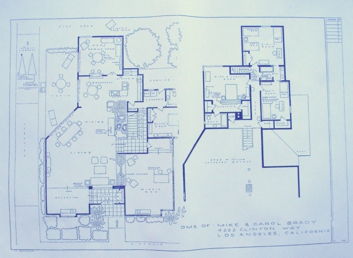 Incredible House Plan: Brady Bunch House Floor Plan For Best Architecture Ideas Brady Bunch Floor Plan Image