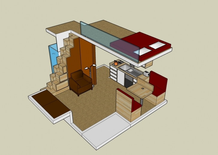 Incredible Small House Plan With Loft Exploiting The Spaces Of Small, Tiny Tiny House Plans With Loft Image