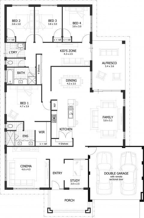 Inspirational 4 Bedroom House Plans & Home Designs | Celebration Homes Family House Plans Photo