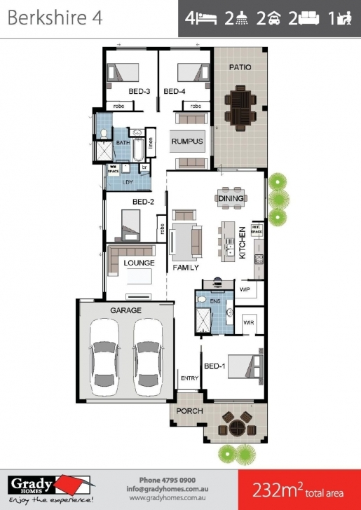 Inspirational Berkshire 4 - Large 4 Bedroom House Floor Plan - Townsville Floor Plan Brochure Photo