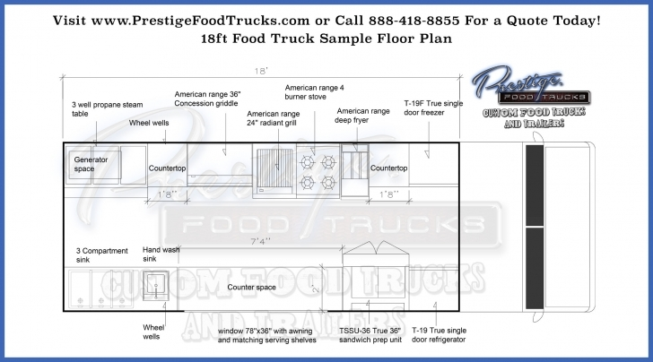 Inspirational Custom Food Truck Floor Plan Samples | Prestige Custom Food Truck Food Truck Floor Plans Photo