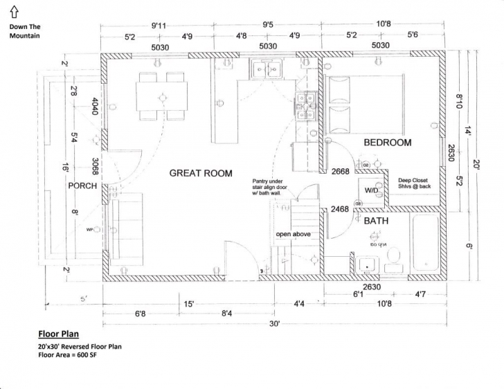 Inspirational Floorplan 20X30 1.5 Story Cabin | Interior Details In 2018 1.5 Story House Plans Picture