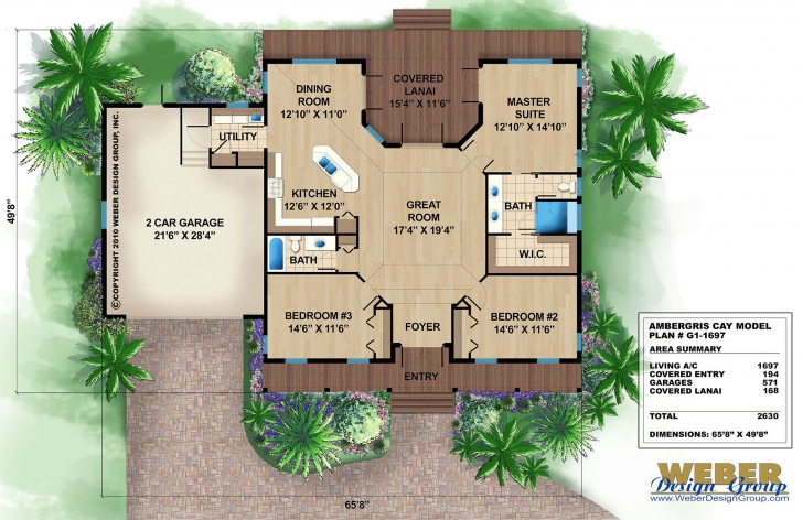 Inspirational Tropical House Plans: Coastal & Tropical Island Beach Floor Plans Tropical Floor Plans Photo