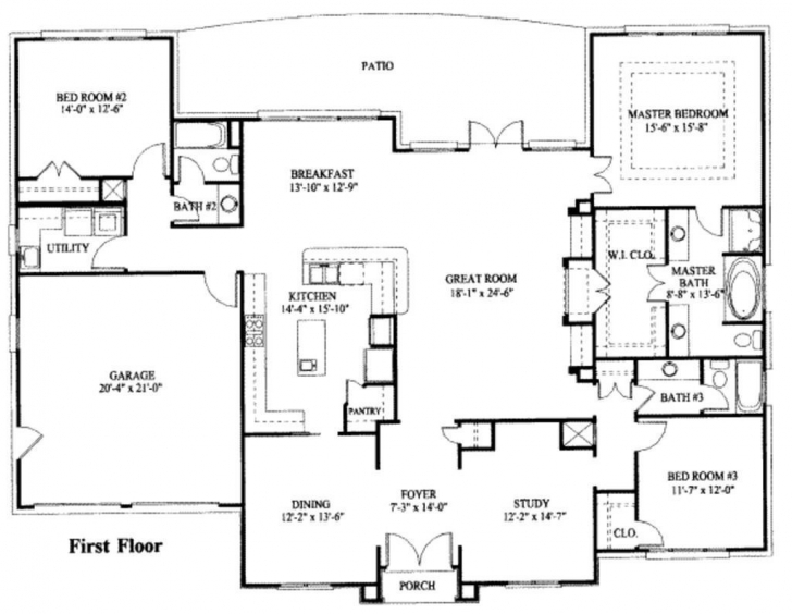 Inspiring 1 2 Story House Floor Plans Inspirational 1 Story Home Plans Lovely 1 Story House Plans Photo