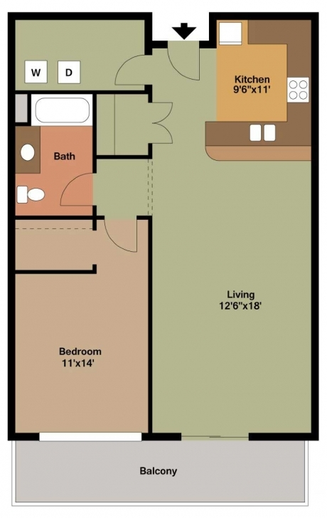 Inspiring 1 Bedroom Apartment Floor Plans Archives - The Overlook On Prospect 1 Bedroom Apartment Floor Plans Photo
