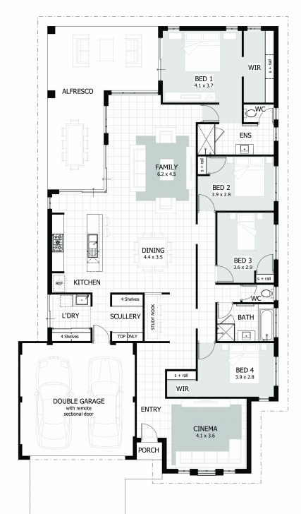 Inspiring 4 Bedroom House Plans & Home Designs | Celebration Homes Square House Plans Photo
