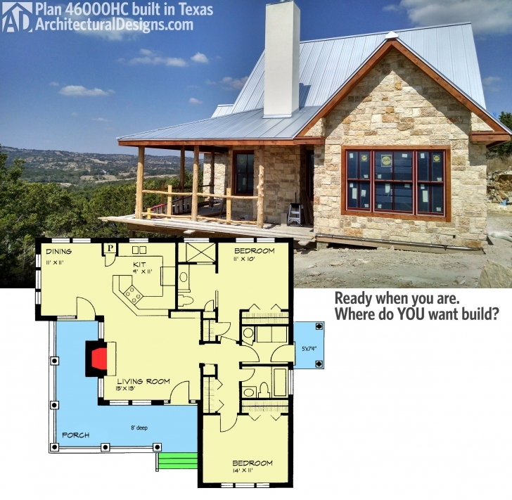 Inspiring Architectural Designs Hill Country House Plan 46000Hc Gives You 2 Hill Country House Plans Pic