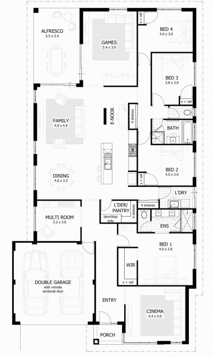 Inspiring Bedroom Bath House Plans Attractive Ideas Besthomezone Com Adorable 4 Bedroom 2 Bath House Plans Picture