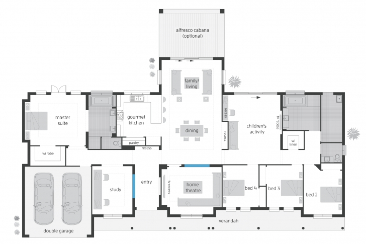 Inspiring Bronte Floorplans Mcdonald Jones Homes Country Home Floor Plans Australia Pic