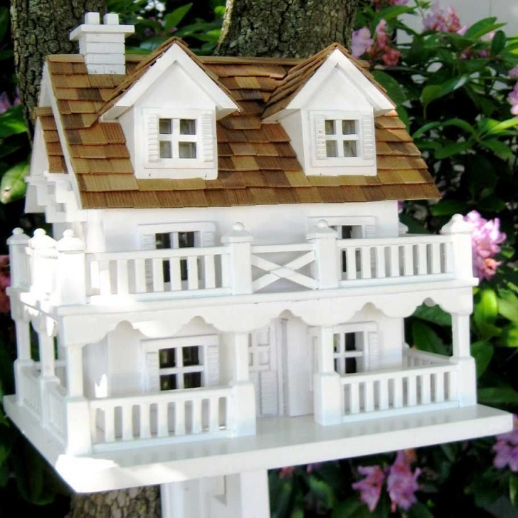 Inspiring Decorative Cape Cod Bird House With Bracket | Bird Houses Decorative Bird House Plans Pic