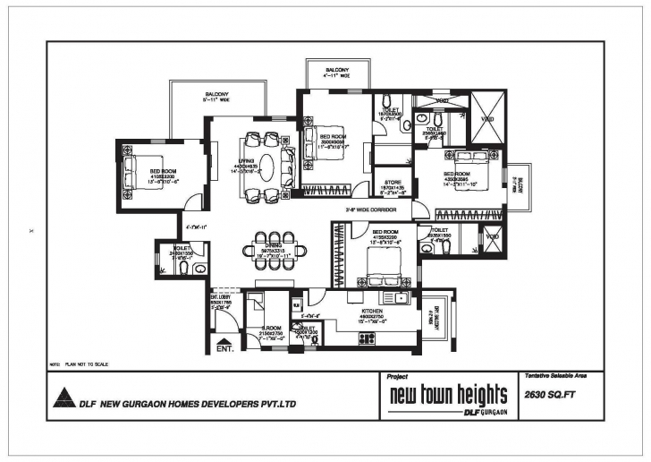 Inspiring Dlf New Town Heights, Sector 86/90/91 Gurgaon Dlf New Town Heights Sector 90 Floor Plan Pic