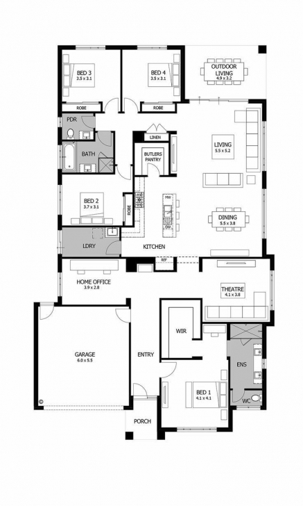 Inspiring Elara 4 Bedroom Suite Floor Plan Lovely Love The Corner Kitchen Elara 4 Bedroom Suite Floor Plan Pic