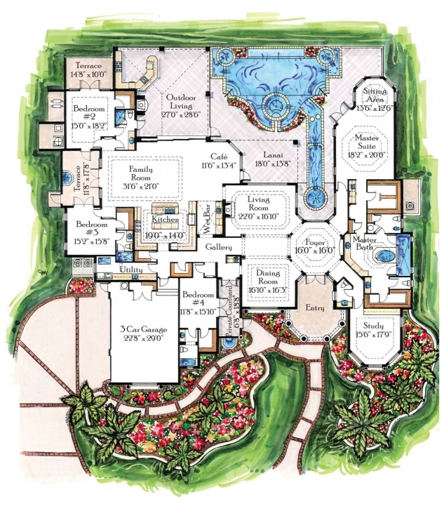 Inspiring Luxury Homes And Plans, Designs For Traditional Castles,villas Luxury House Plans Image