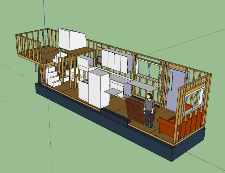 Inspiring Tiny House Layout Has Master Bedroom Over Fifth-Wheel Hitch, With Tiny House Trailer Plans Pic