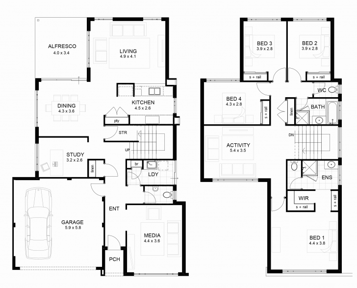 Inspiring Two Story House Plans - Decorating Ideas Two Story House Plans Picture