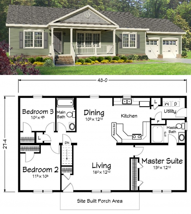 Inspiring What Do You Think Of This Ranch Style Home? | Ranch Style Homes Small Ranch House Plans Pic