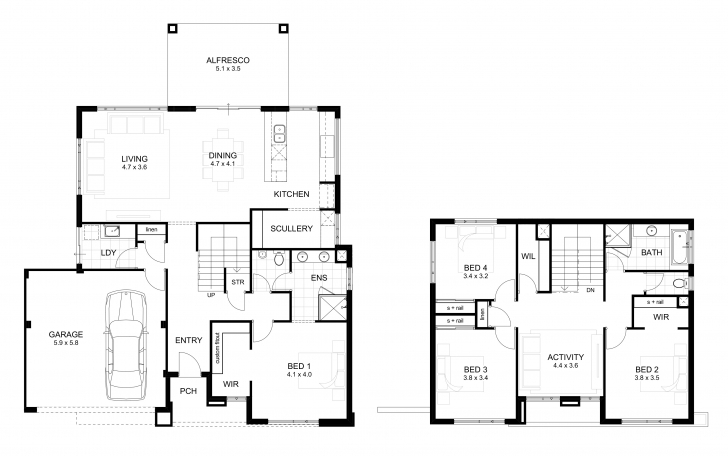 Interesting 1800 Sq Ft House Plans With Walkout 2 Story - Best House Plans Two Story House Plans Photo