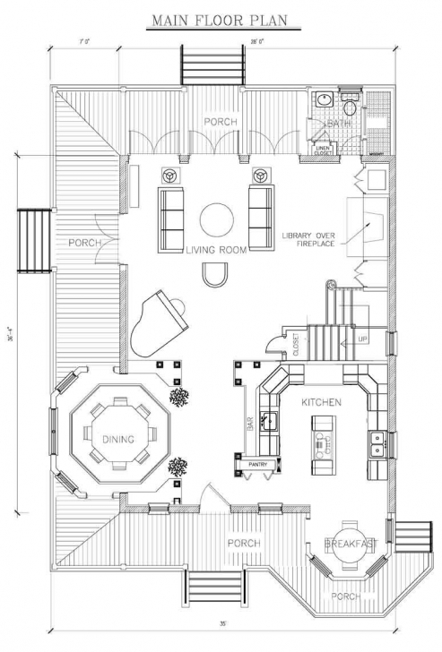 Interesting 3-Story Queen Anne House Plans (Pictured In Pink), First Floor Queen Anne House Plans Picture
