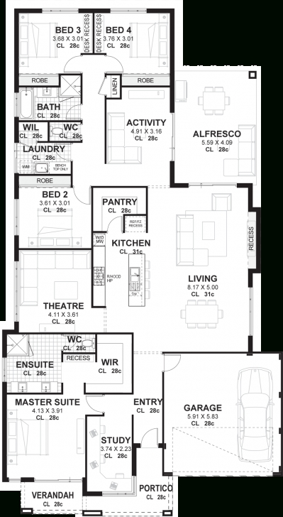 Interesting 4 Bedroom House Plans & Home Designs Perth | Vision One Homes Floor Plans For Houses Image