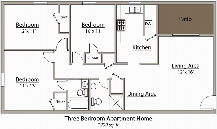 Interesting Apartments Floor Scintillating 3 Bedroom Apartment Floor Plan Floor Plans For Apartments 3 Bedroom Photo
