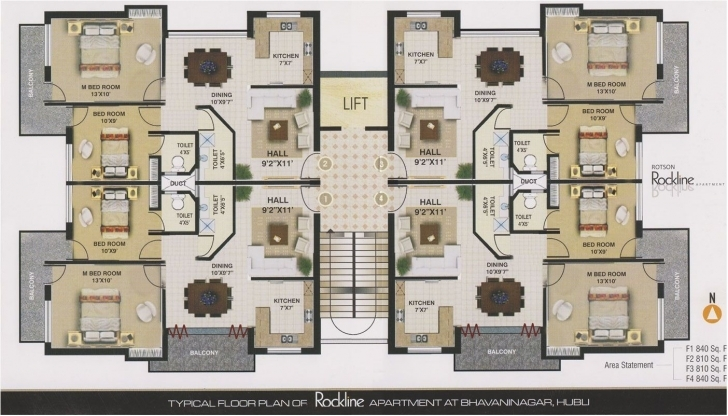 Interesting Apartments Plans Designs - Decorating Ideas 4 Floor Apartment Plan Image