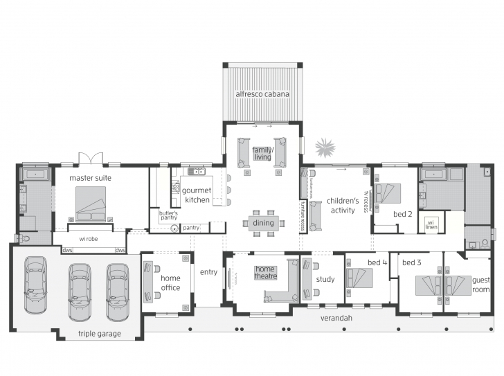Interesting Bronte (Act) - Floorplans | Mcdonald Jones Homes Lodge Floor Plans Image