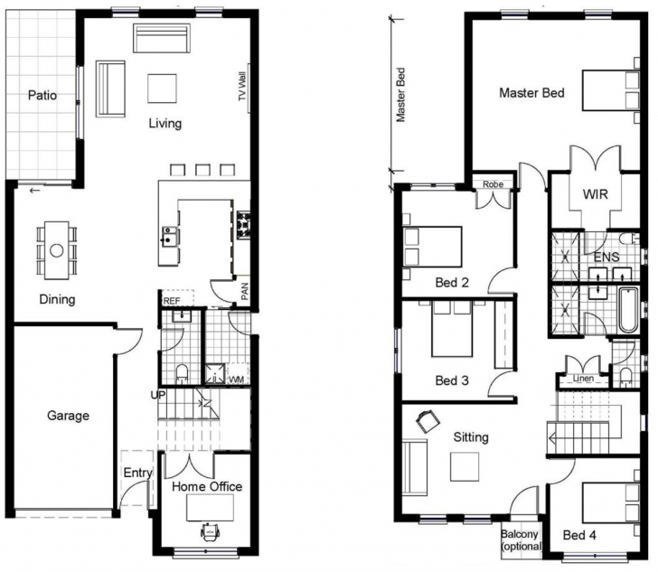 Interesting Classy Design Two Story Homes Plans Sloping Block 10 House Designs House Floor Plans Sloping Blocks Picture