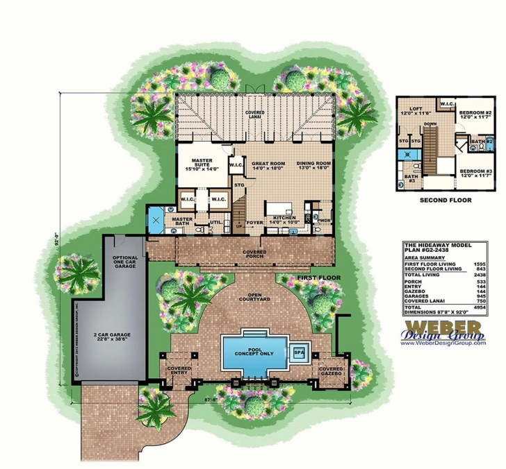 Interesting Courtyard House Plans: Home Floor Plans With Courtyards Courtyard House Plans Photo
