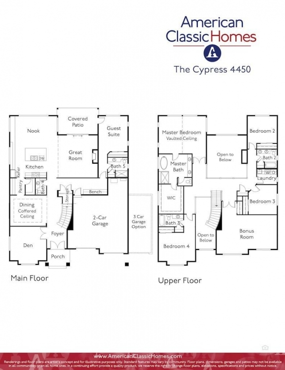 Interesting Cypress | Seattle Wa New Homes | American Classic Homes Classic Home Floor Plans Picture