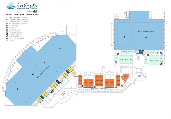 Interesting Floor Plans | Los Angeles Convention Center La Convention Center Floor Plan Photo