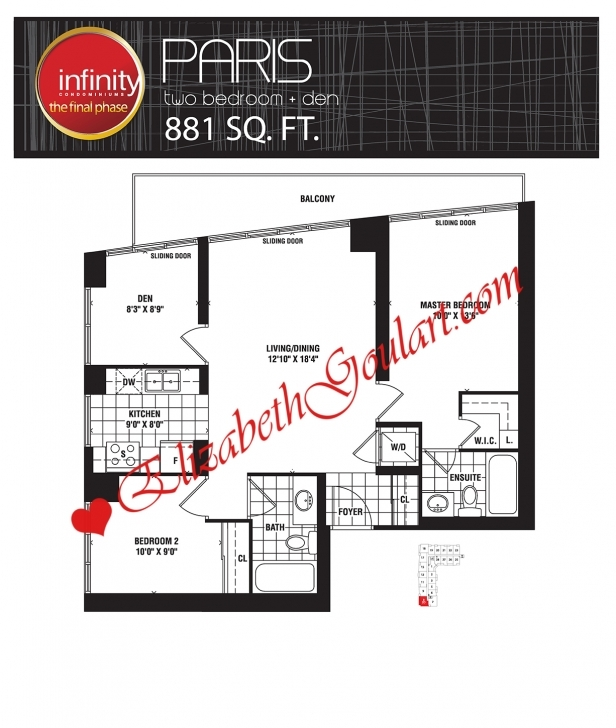Interesting Infinity Condos | 19/30 Grand Trunk | 25/51 Lower Simcoe | Elizabeth Infinity Condo Floor Plans Pic