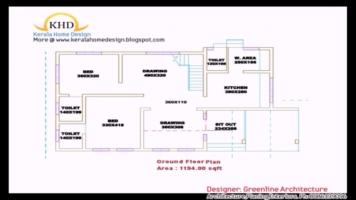Interesting Kerala Style 3 Bedroom House Plans Single Floor - Youtube Kerala Style 3 Bedroom Single Floor House Plans Photo